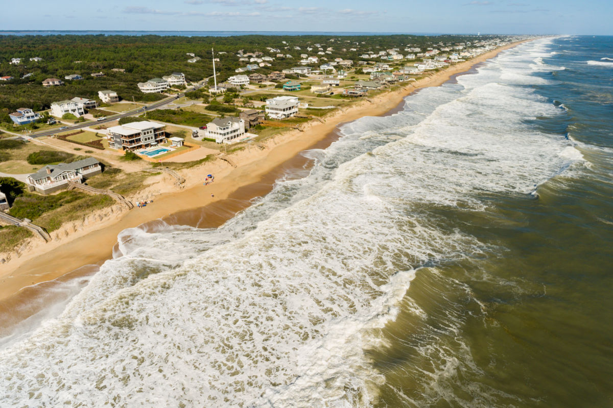 Open floor plans help bring some of what is outside in on the Outer Banks North Carolina by SAGA realty and construction
