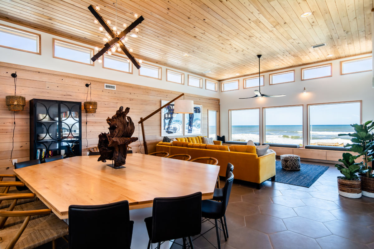 Open floor plan Beach House Transcendence Outer Banks SAGA