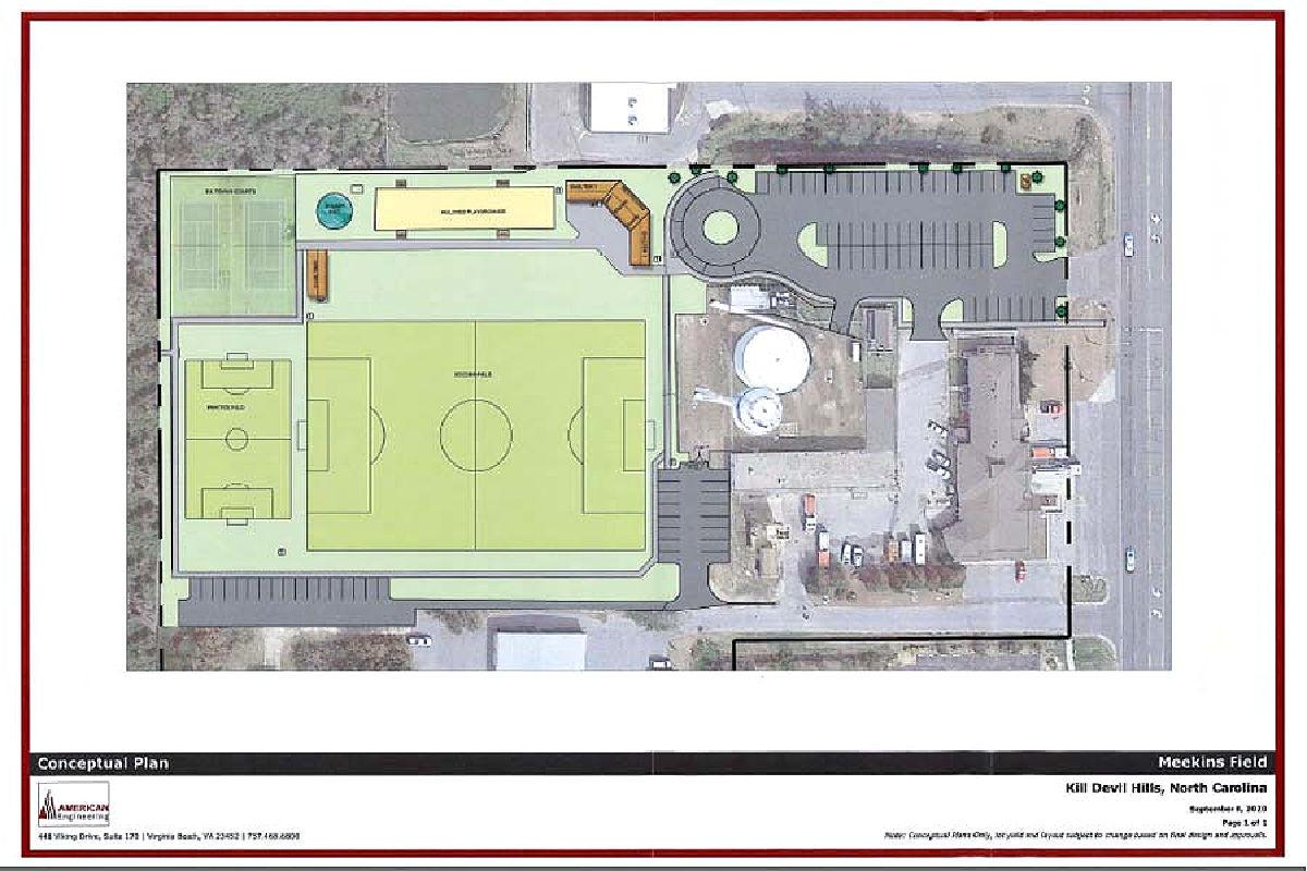 Conceptual plan for Meekins Field_Kill devil hills SAGA realty and construction