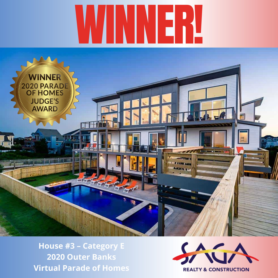 Parade of Homes Winner Judges Award Lighthouse SAGA Realty and Construction