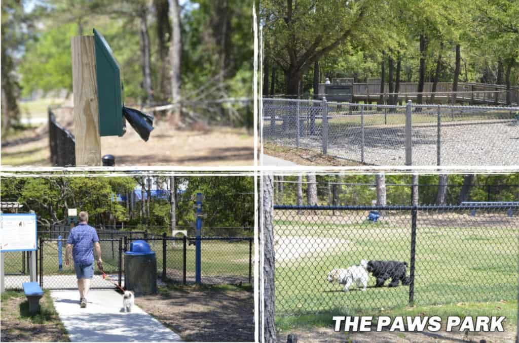 New to the Outer Banks in 2019 is the 1.5-acre dog park called The Paws Park in Kill Devil Hills