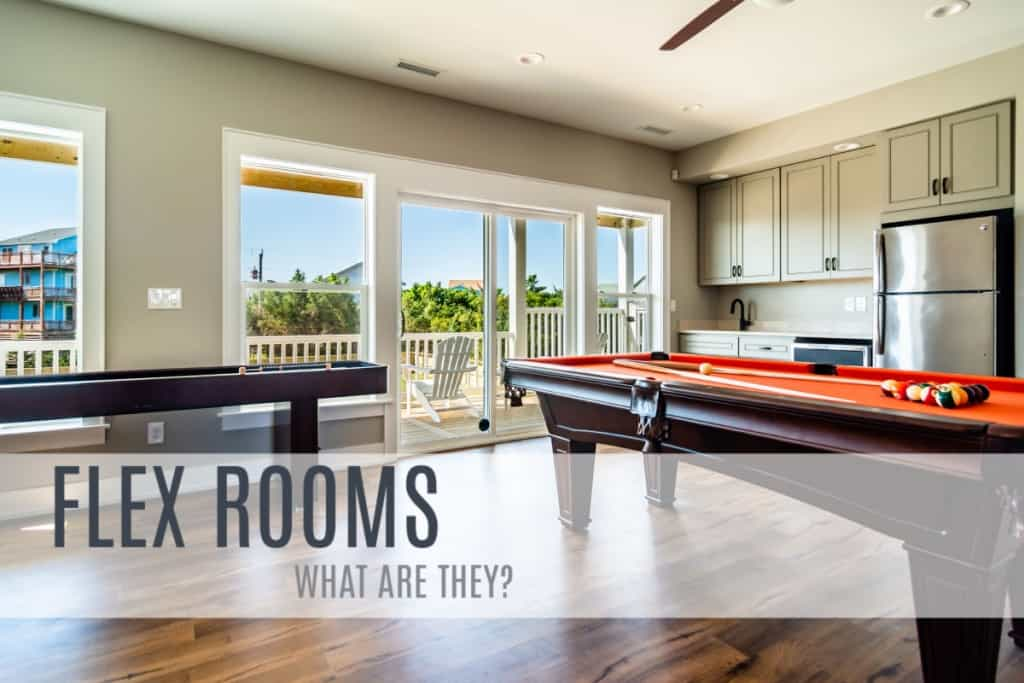 Flex Rooms are popular in homes along the Outer Banks of North Carolina