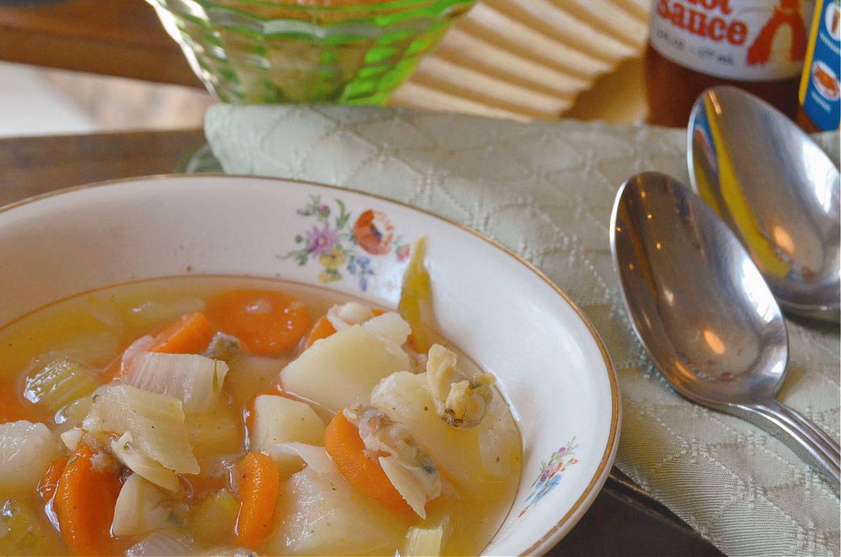 Hatteras Style Clam Chowder recipe Outer Banks SAGA realty and construction