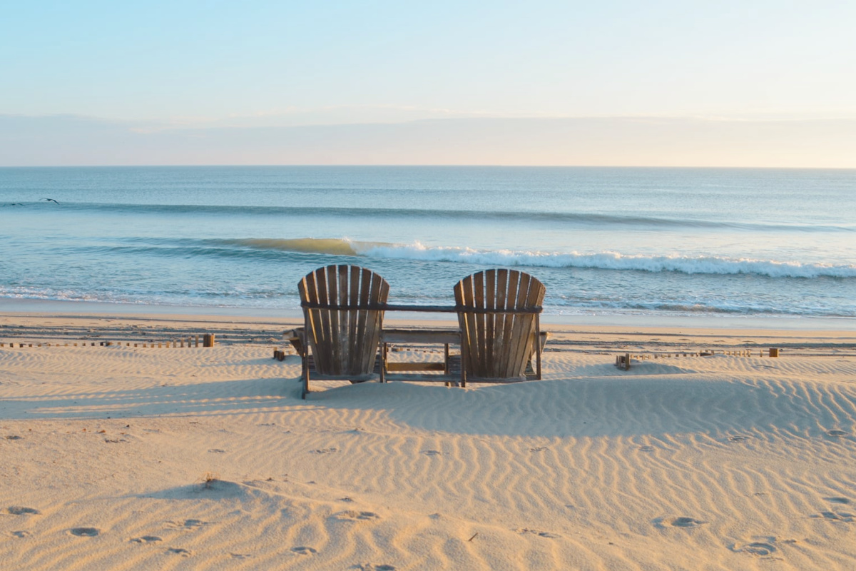 Chairs on the beach SAGA Image credit OBX Sunrise
