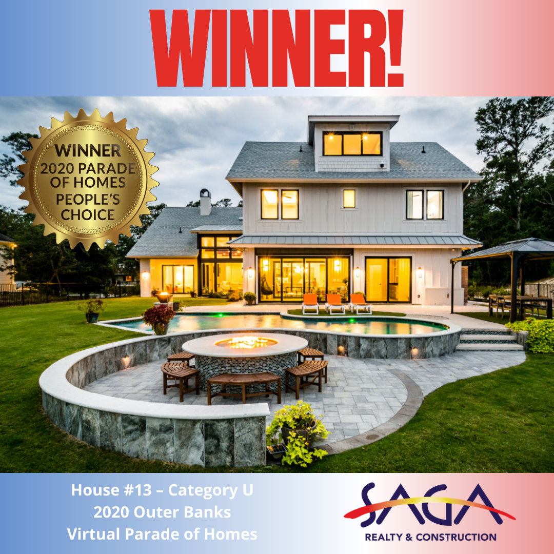 Parade of Homes Winner Peoples Choice Award Cat U SAGA Realty and Construction