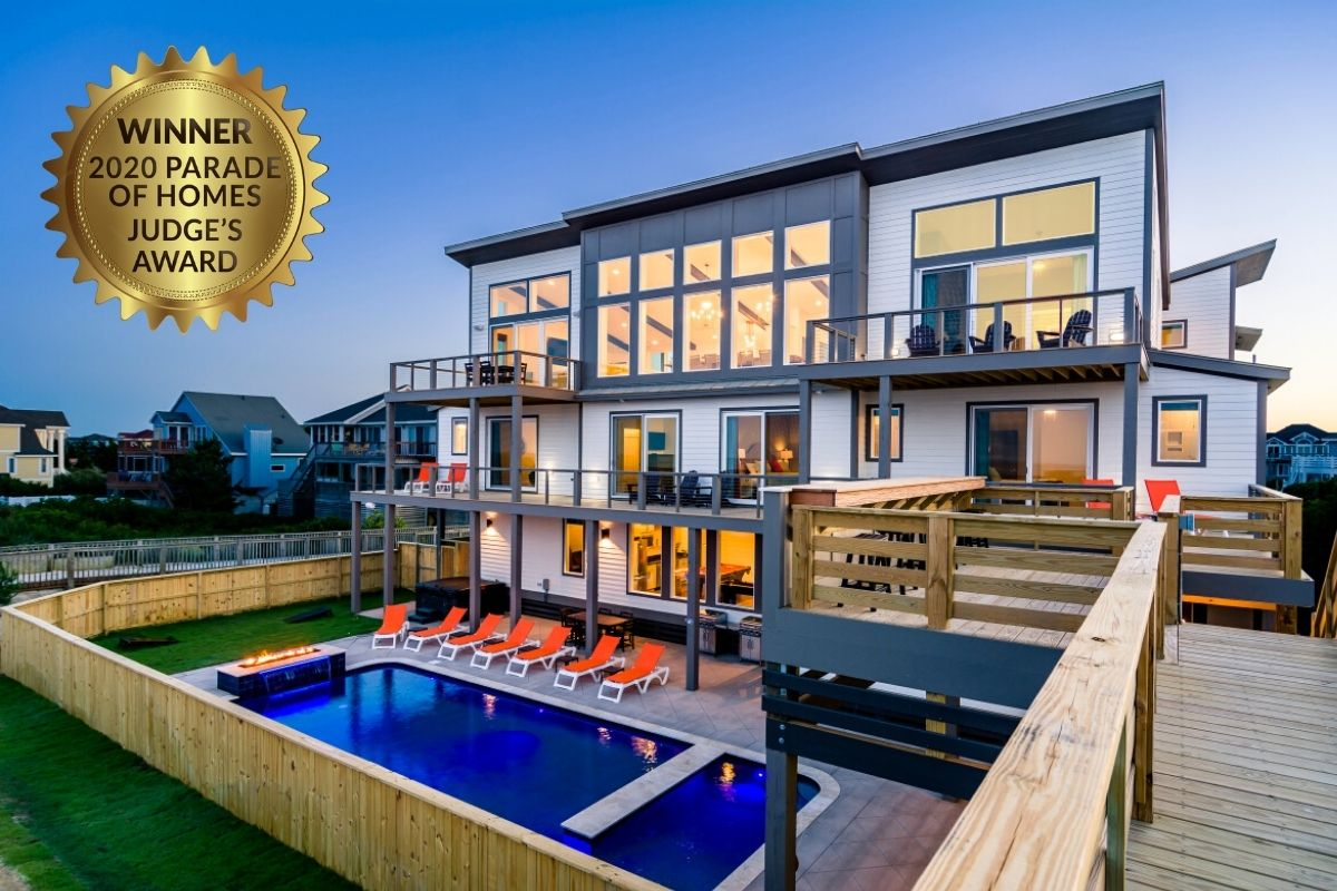 SAGA takes the win for the Judges Award in category E in the Outer Banks Parade of Homes 2020