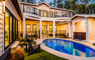 Water Oak courtyard renfred Families flocking to outer banks beach SAGA Realty and Construction Outer Banks Kill Devil Hills