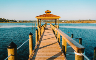 dock - Water Oak courtyard renfred Families flocking to outer banks beach SAGA Realty and Construction Outer Banks Kill Devil Hills