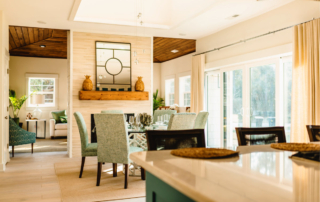 Dining room - Water Oak courtyard renfred Families flocking to outer banks beach SAGA Realty and Construction Outer Banks Kill Devil Hills