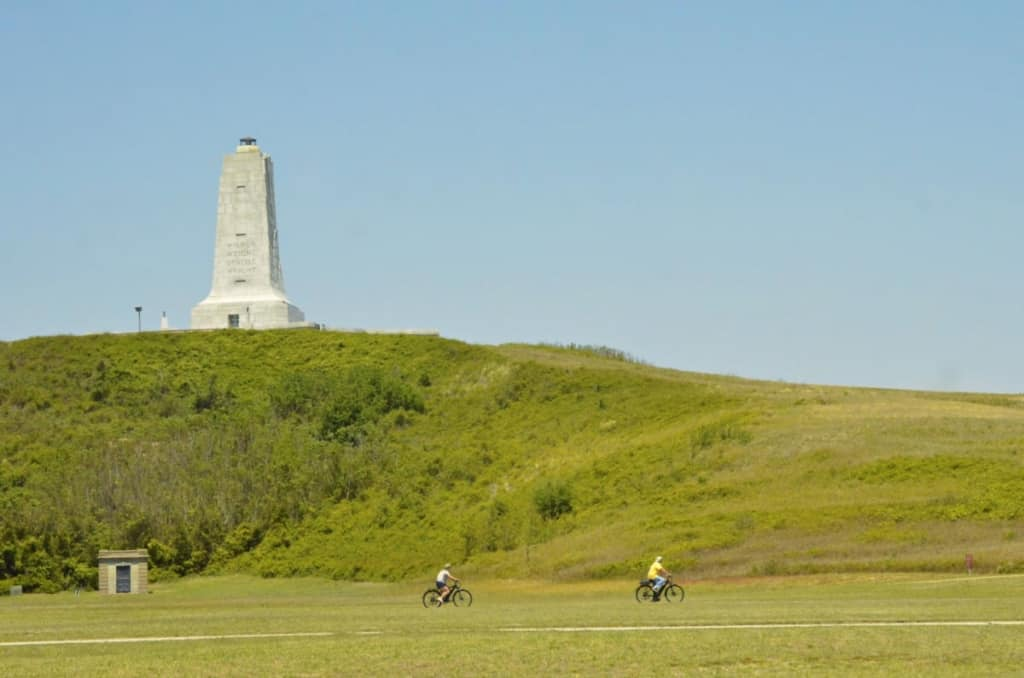 The Wright Brothers Memorial consists of 428 acres