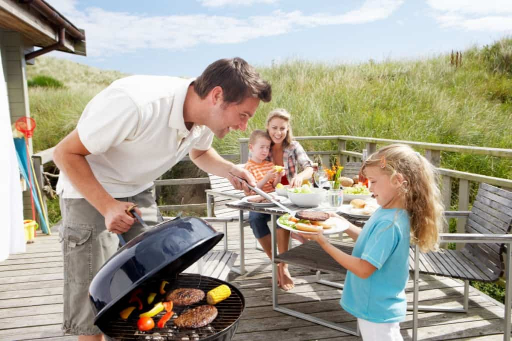 Games are fun for all ages during family cookouts on the Outer Banks