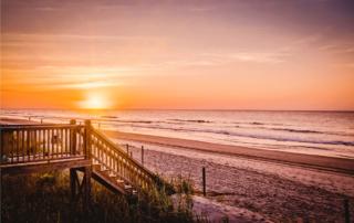 Outer Banks sunrise beach stairs SAGA